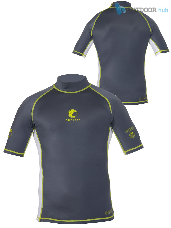 Odyssey Mens Short Sleeve Rash Vest Surf Guard T Shirt Uv