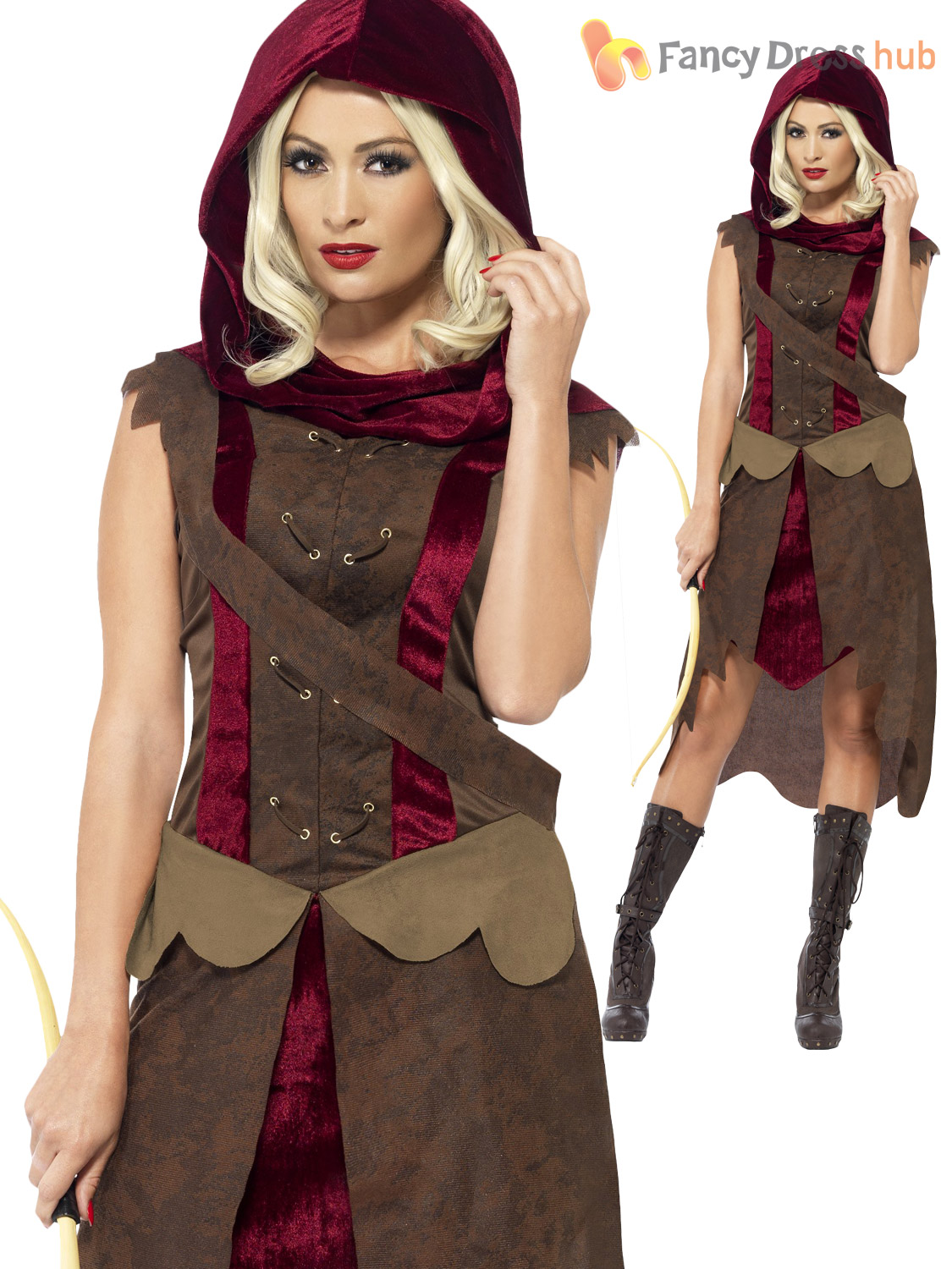 Ladies Huntress Archer Hunter Game of Thrones Marion Womens Fancy ...