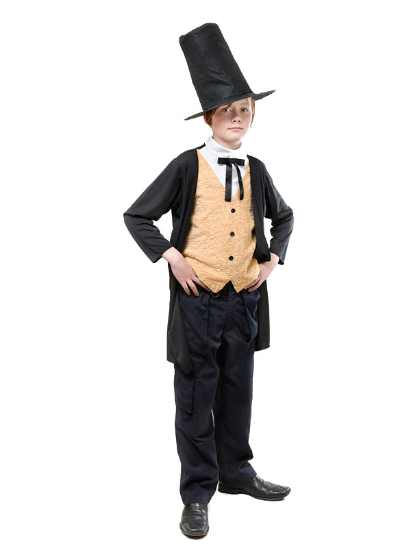 Boys-Kids-Victorian-Gent-Fancy-Dress-Costume-Hat-Oliver-Book-Week-all-ages