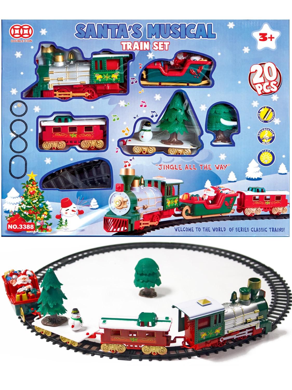 Christmas Train Sets Under Tree