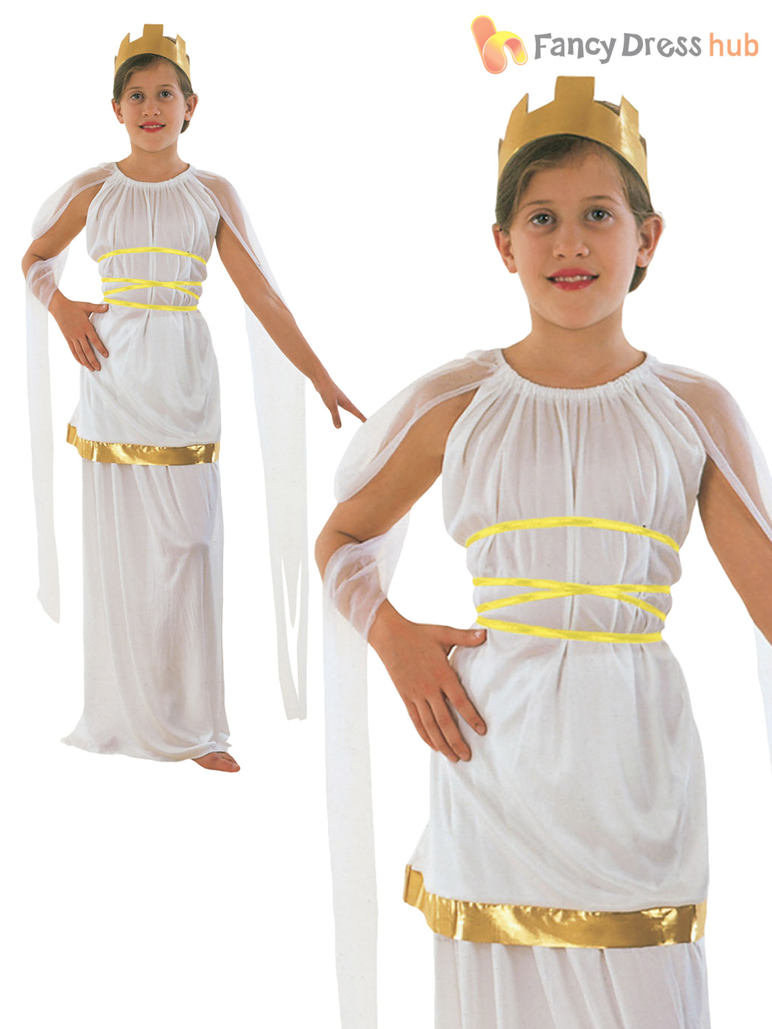 girls greek goddess costume roman toga book week kids child
