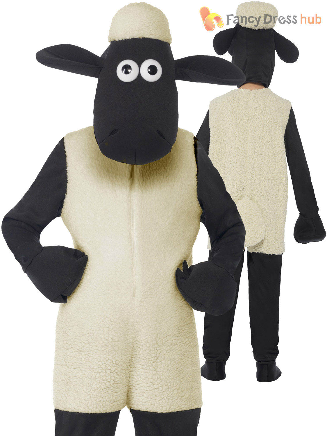 Childs Shaun the Sheep Costume Boy Girl Wallace and Gromit Fancy Dress Easter
