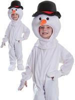 Kids Plush Snowman Costume