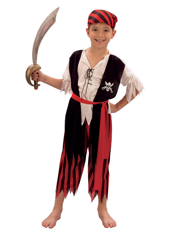 Boys-Pirate-Costume-Kids-Caribbean-Fancy-Dress-Outfit-Age-4-5-6-7-8-9-10-11-12