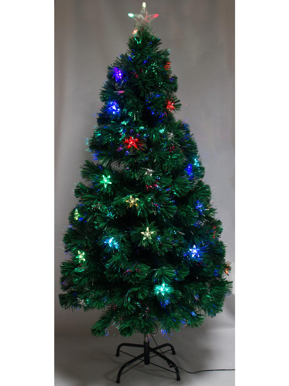 5ft 6ft pre lit fibre optic christmas tree with led. Black Bedroom Furniture Sets. Home Design Ideas