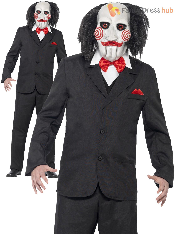 para hombre saw jigsaw puppet disfraz adultos con licencia oficial de disfraces de halloween