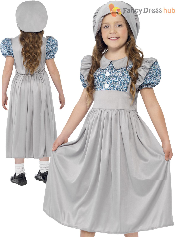 White apron fancy dress - Girls Victorian School Girl Costume Child Book Week Day Fancy Dress Outfit Kids