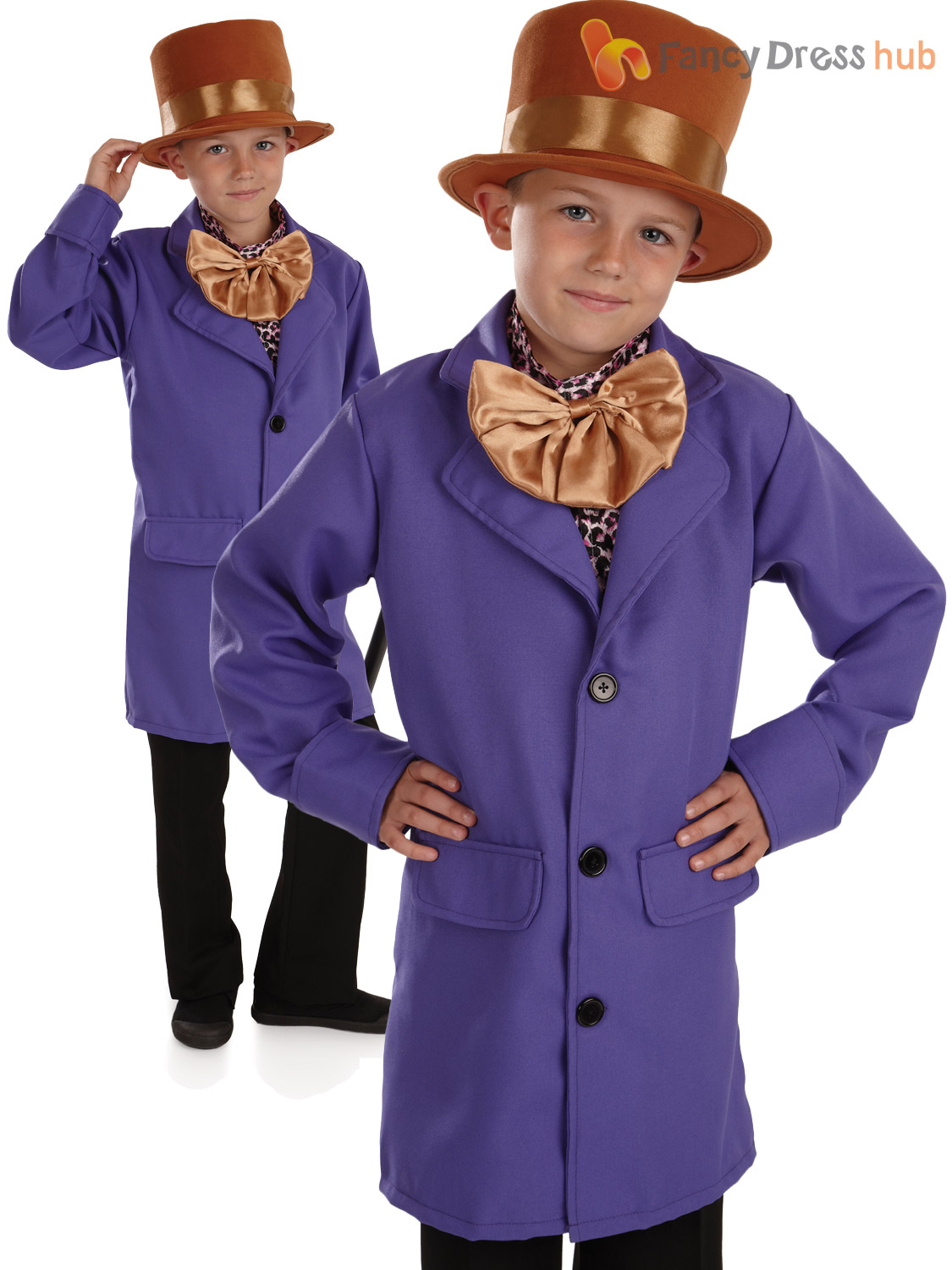 Childs Oompa Loompa Fancy Dress Costume Willy Wonka Outfit Kid ...
