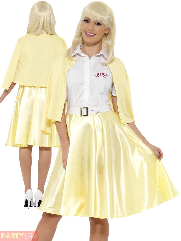 Ladies Grease Sandy Costume Adults 1950s Fancy Dress Film ...