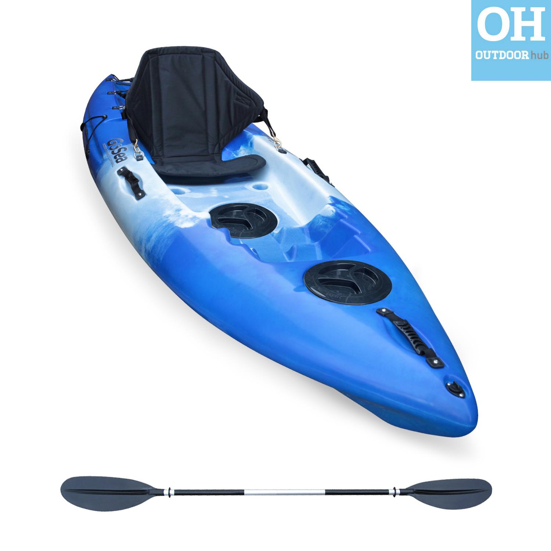 Sit on top kayak beginners entry level single ocean canoe for Beginner fishing kayak