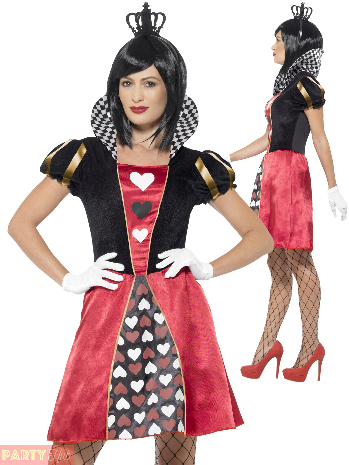 ladies queen of hearts costume adult fancy dress outfit. Black Bedroom Furniture Sets. Home Design Ideas