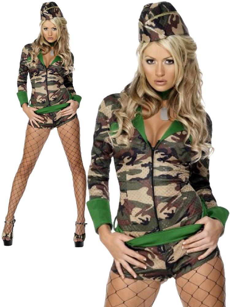 Ladies Fever Combat Chick Costume
