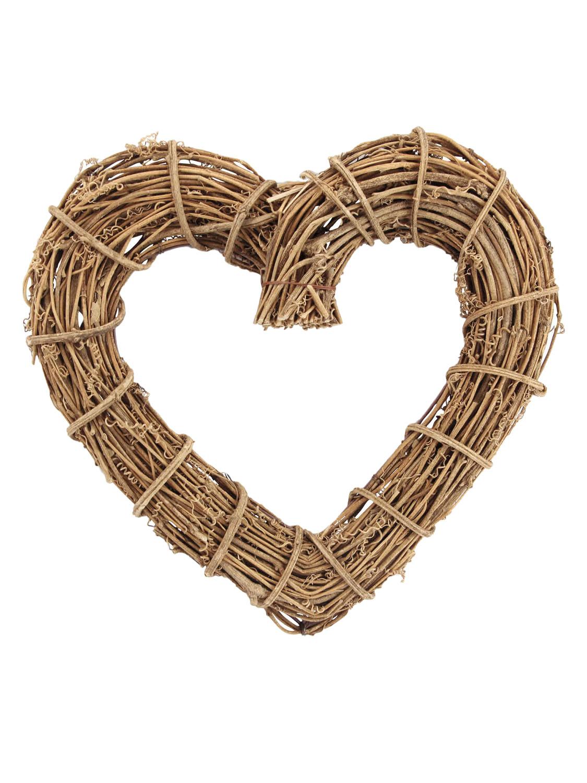 Gisela Graham Natural Twig Heart Wreath Home Decoration