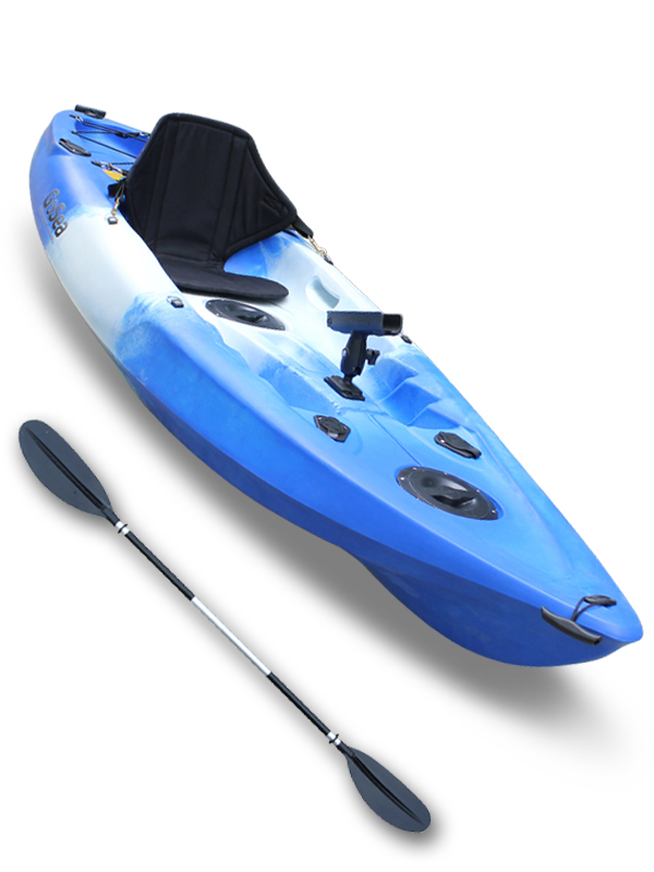 Sit-On-Top-Kayak-Single-Fishing-Ocean-Sea-Surf-River-Canoe-GoSea-Angler-Stealth