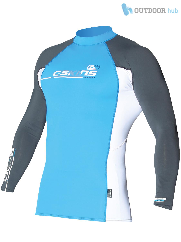 Surf Muta da Spiaggia C-Skins Da Uomo a Maniche lunghe Rash Vest Girocollo UPF 50