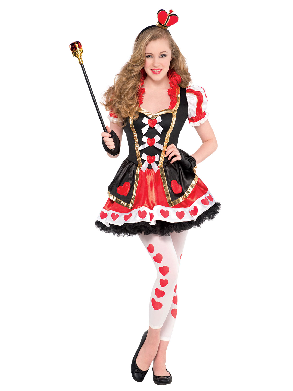Girls Alice Mad Hatter Queen Of Hearts Costume Teen Book Week Day ...