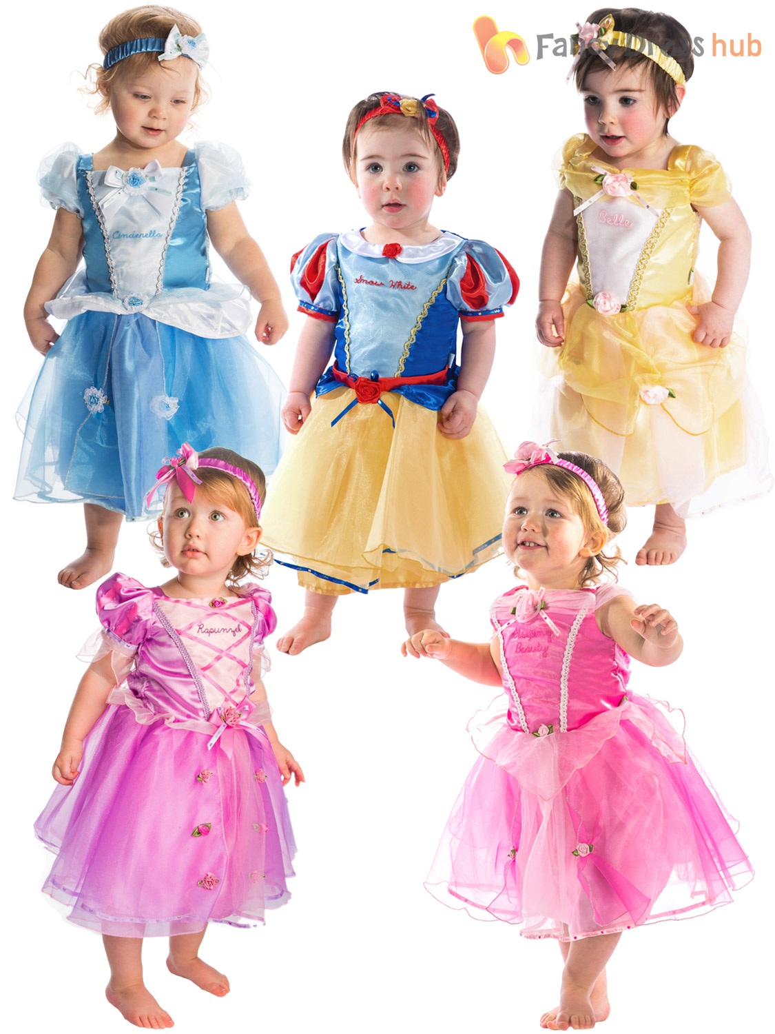 Baby Toddler Deluxe Disney Princess Costume Girl Fairytale