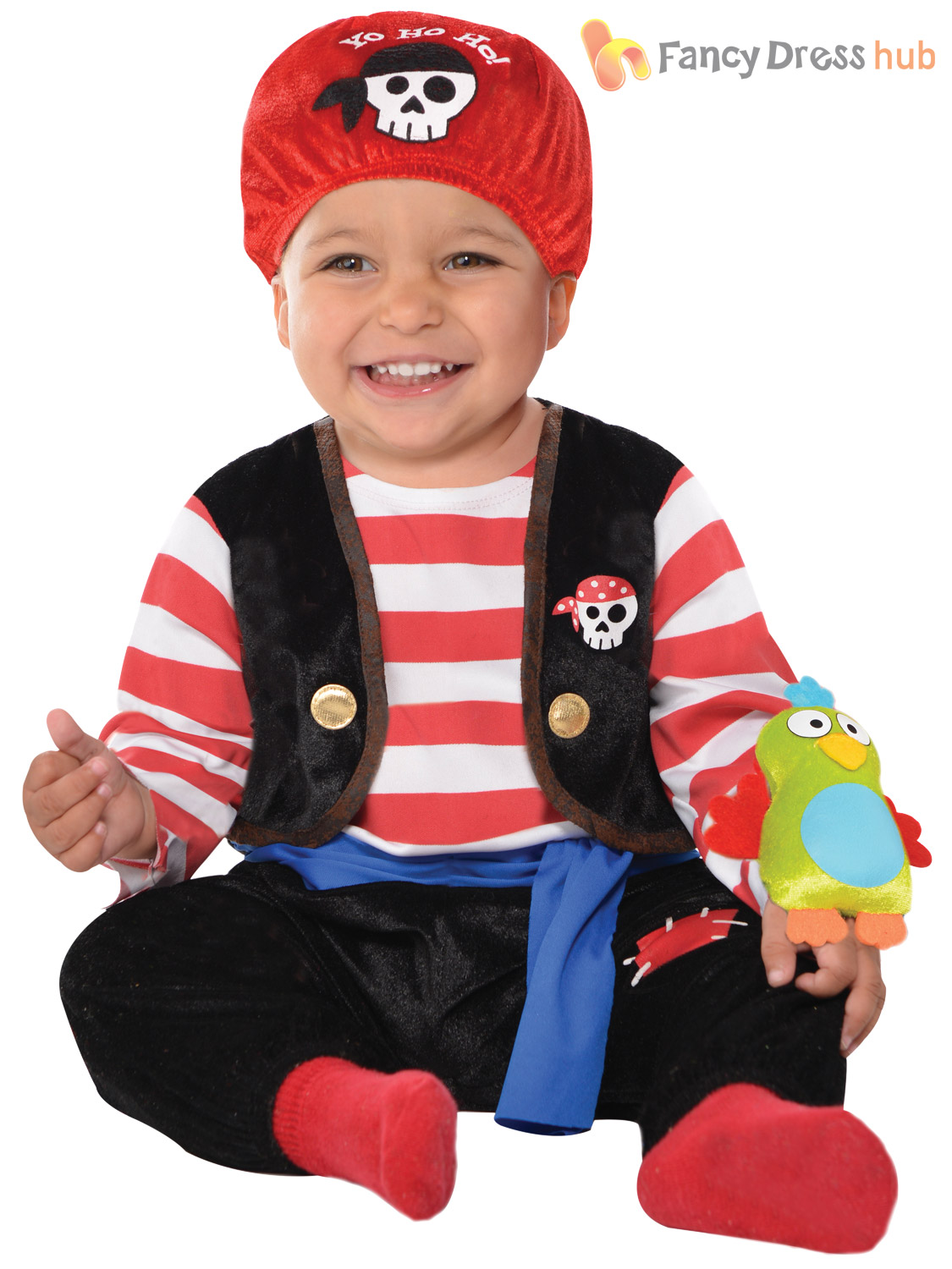 Children's Pirate Fancy Dress. We all love to play the baddie once in a while, and what's a more lovable rogue than a pirate! From baby buccaneers to swashbuckling Caribbean pirates, we have pirate fancy dress for all ages starting from under £10!