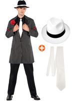 Men's 1920s Zoot Suit, Hat + Tie