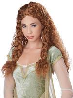 Ladies Brown Viking Princess Wig