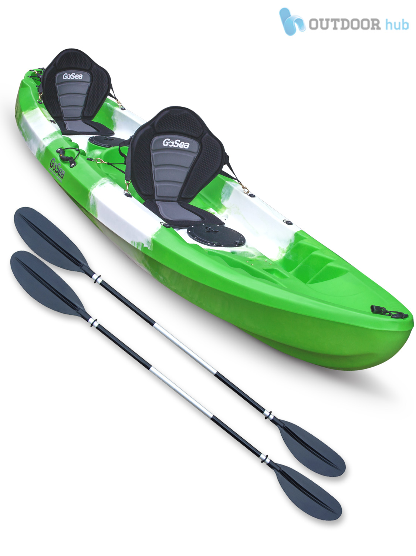 Sit on top kayak tandem 2 1 double 2 man ocean twin canoe for Double fishing kayak