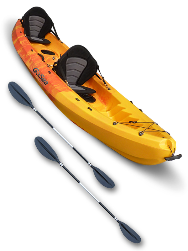 Sit on top kayak tandem double 2 1 ocean sea surf river for Best tandem fishing kayak