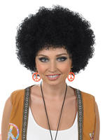 Adults Black Afro Wig