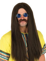 Men's Brown Hippie Wig