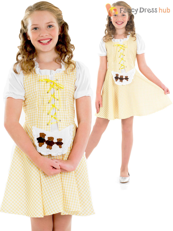 Girls Goldilocks Costume Child Book Week Day Fancy Dress ...