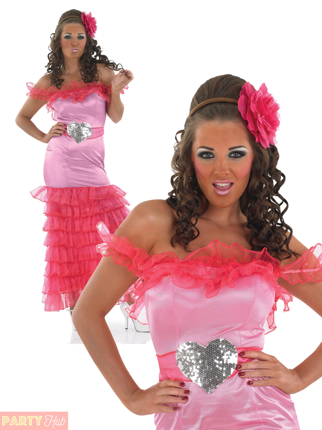 Ladies Pink Gypsy Bridesmaid Costume Womens Wedding Hen Party Fancy Dress Outfit | eBay