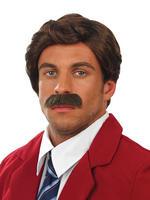 Men's Anchor Man Wig & Tash