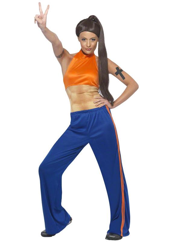 Ladies Spice Girl Costume 90s Pop Star Union Jack Fancy ...