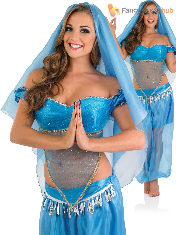 Senoras-arabe-Princesa-Jasmine-Disfraz-Adulto-Sofisticado-Vestido-Bailarina-Del-Vientre-Bollywood