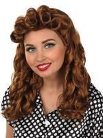 Ladies Brown Vintage Wig