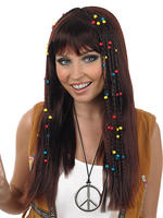 Ladies Brown Braided Hippie Wig