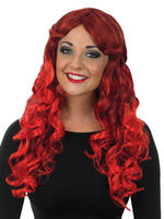 Ladies Red Temptress Wig