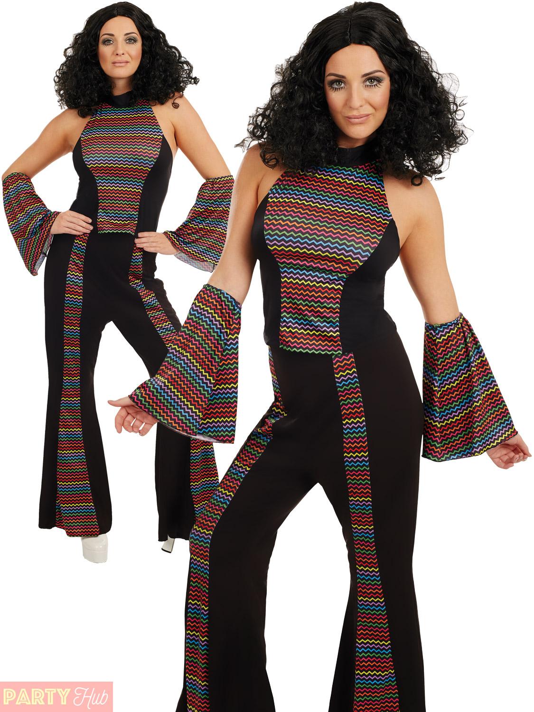 Adults disco fever costume mens ladies 1970s diva fancy dress womens 70s outfit ebay - Diva pants ebay ...