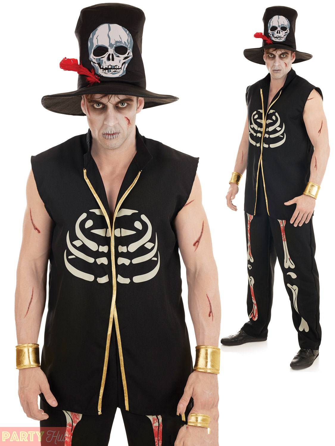 Voodoo Witch Doctor Costume Mens Ladies Couple Black Magic ...
