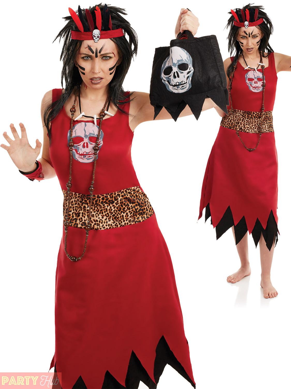 Voodoo Witch Doctor Costume Mens Ladies Couple Black Magic ...