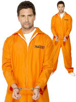 Mens Escaped Prisoner Costume