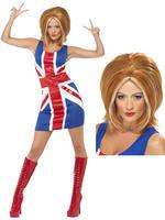 Ladies Ginger Spice Costume