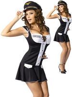 Ladies Captain Layover Costume