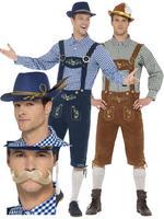 Men's Deluxe Lederhosen Costume Bundle