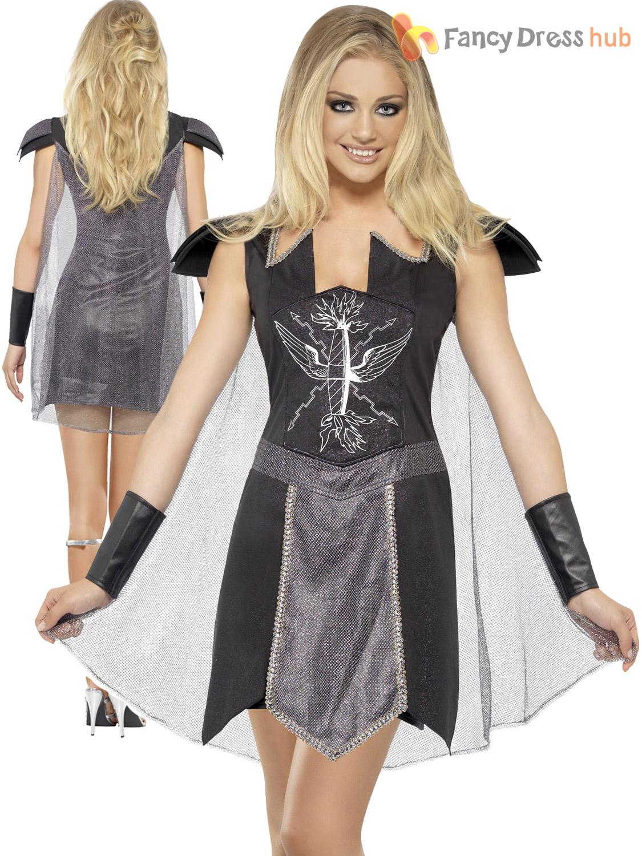 Mesdames Dark Warrior Princess Costume Adulte Fièvre romaine gladiateur déguisement