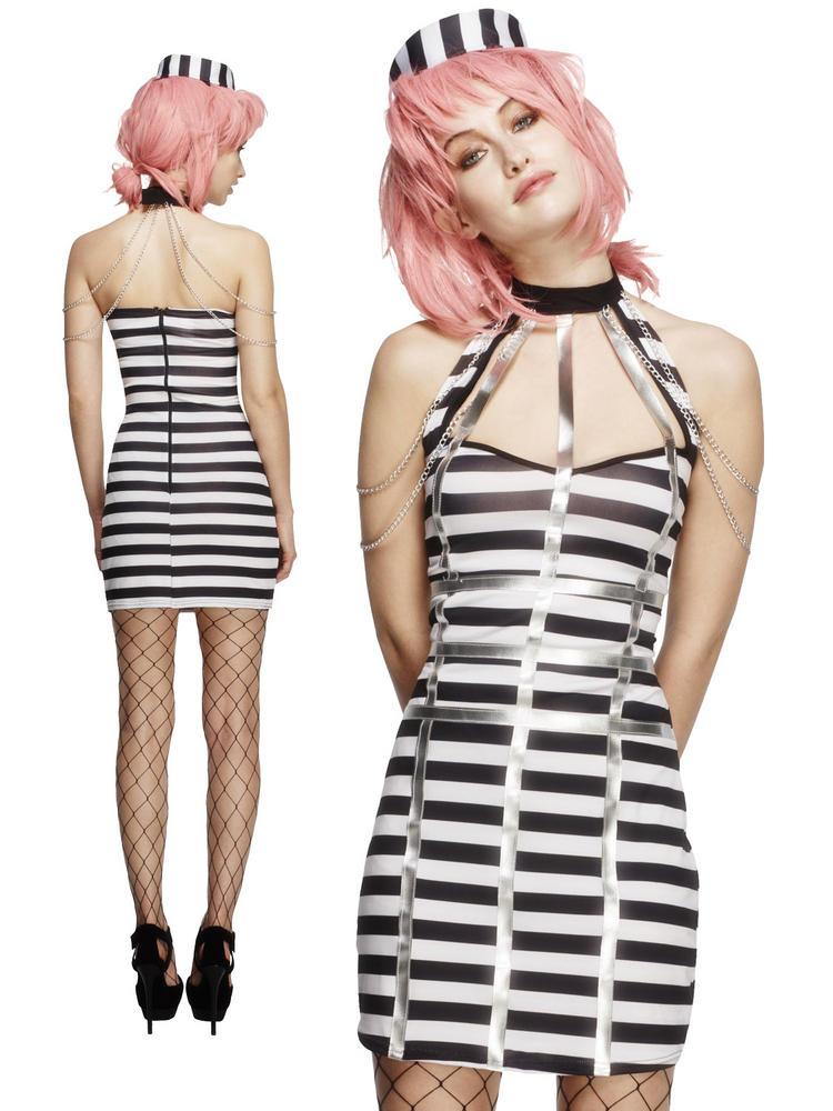 Ladies Fever Night Criminal Convict Costume