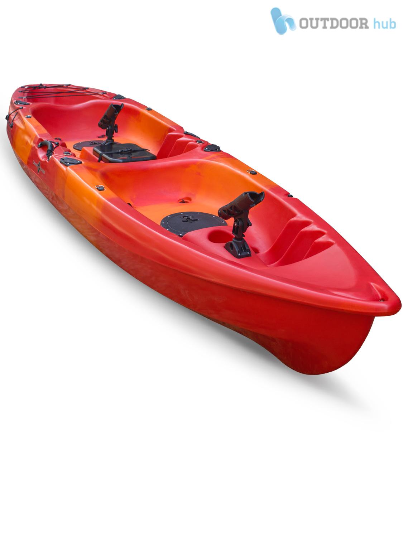 Sit on top kayak double fishing canoe rod holders hatch for Double fishing kayak