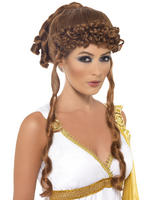 Brunette Helen of Troy Wig