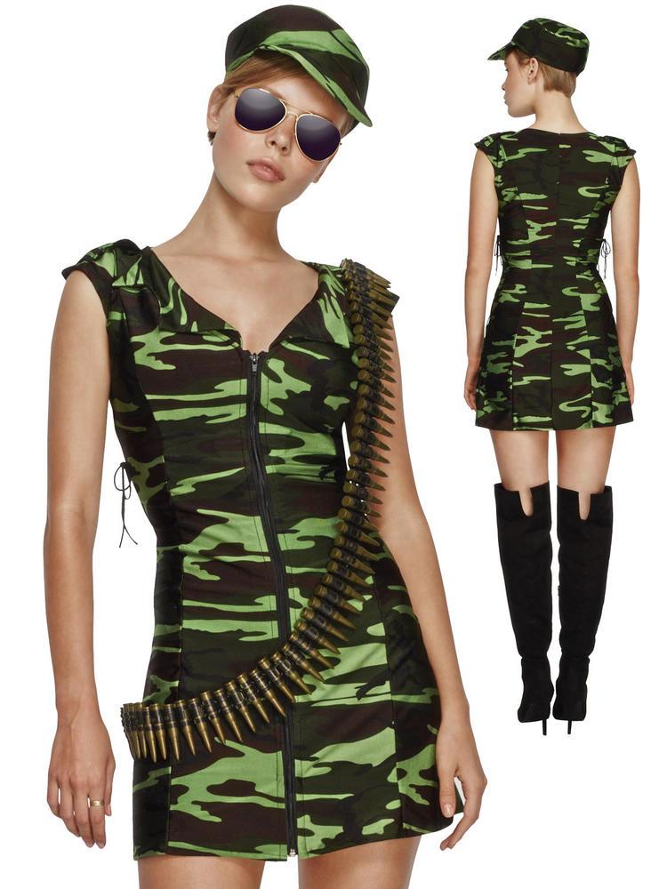 Ladies Fever Combat Girl Costume