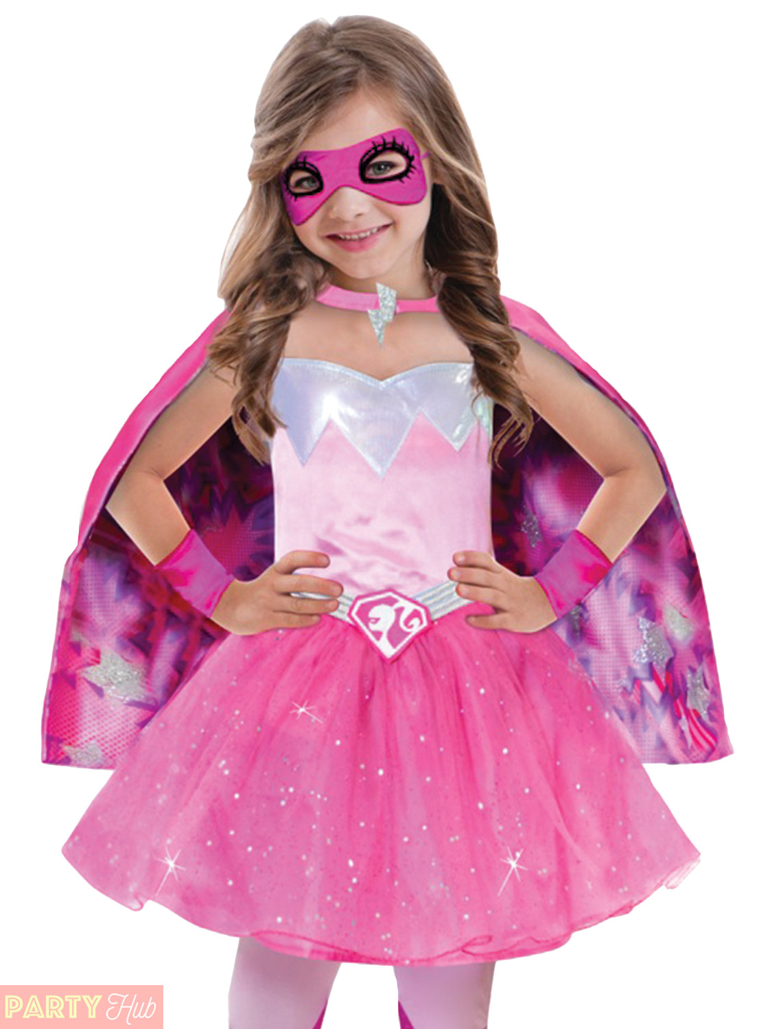 Girls-Barbie-Princess-Costume-Pink-Superhero-Spy-Halloween-  sc 1 st  eBay & Girls Barbie Princess Costume Pink Superhero Spy Halloween Fancy ...