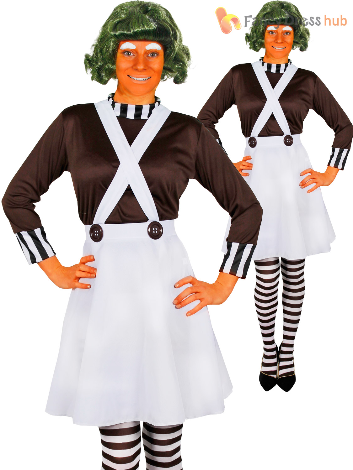 Ladies Oompa Loompa Costume Adults Charlie and the Chocolate ...
